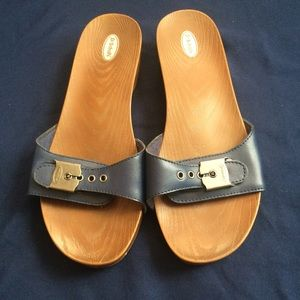 Dr. Scholl's Classic Sandal Navy Blue NWOT